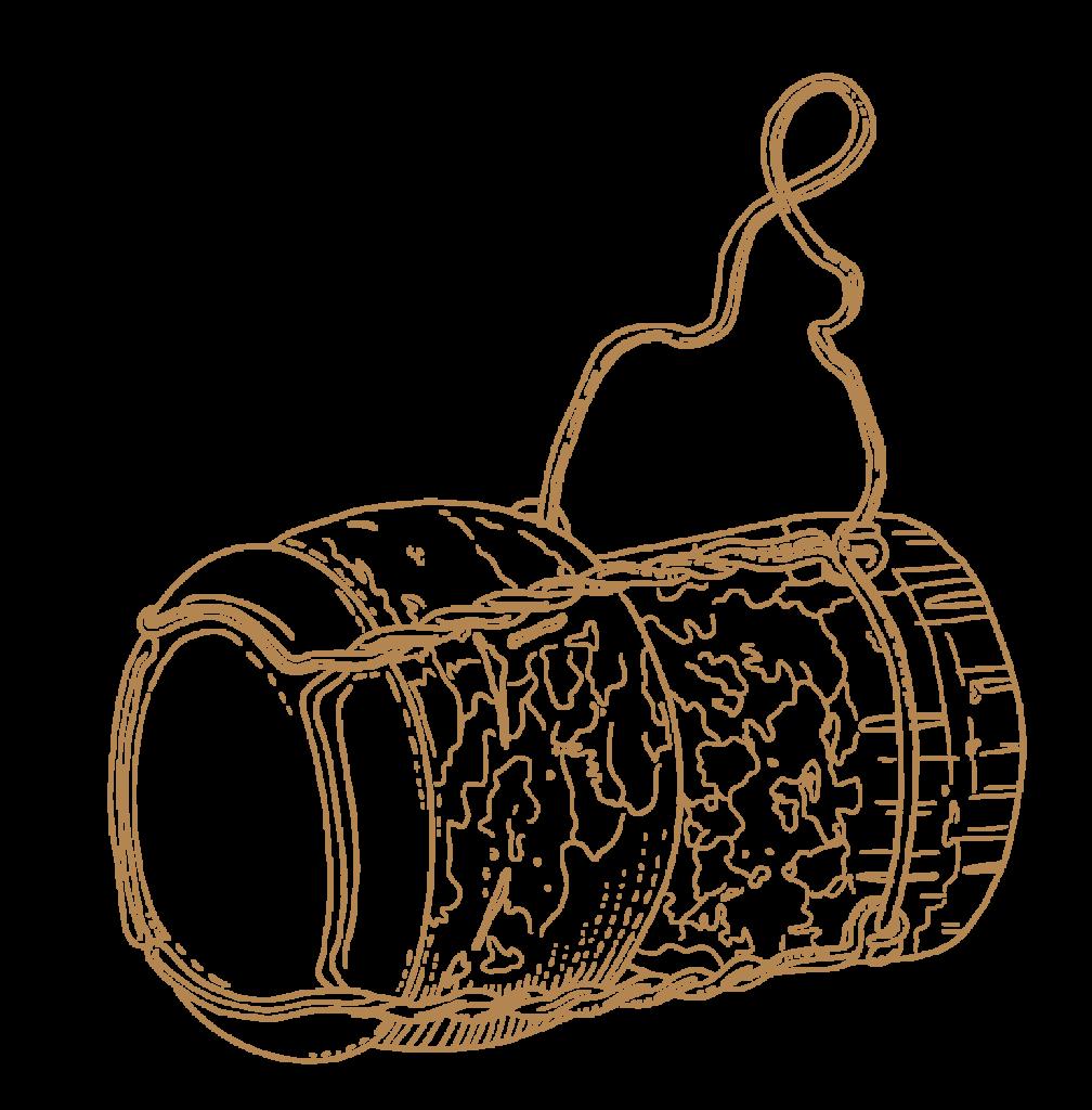 Haute Cabrière Pierre Jourdan Champagne Cork Franschhoek Illustration