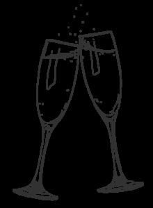 Haute Cabrière Pierre Jourdan Champagne Flutes Illustration