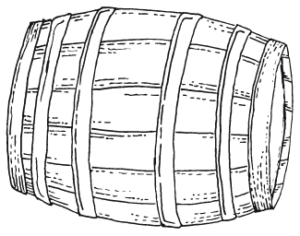 Haute Cabrière Wine Barrel Illustration