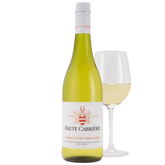 Haute Cabrière Chardonnay Unwooded Franschhoek Wine