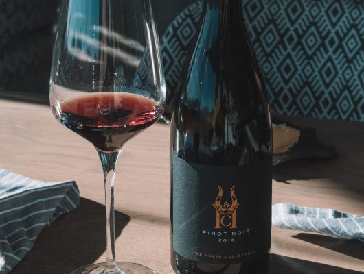 Haute Collection Pinot Noir for lunch at Haute Cabriere Restaurant